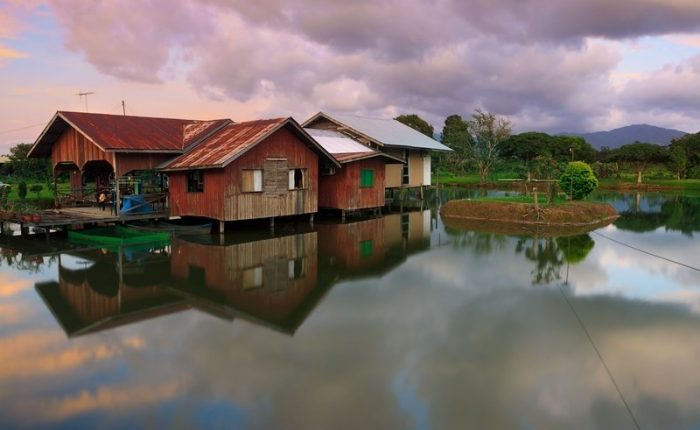 Borneo paesaggio rurale
