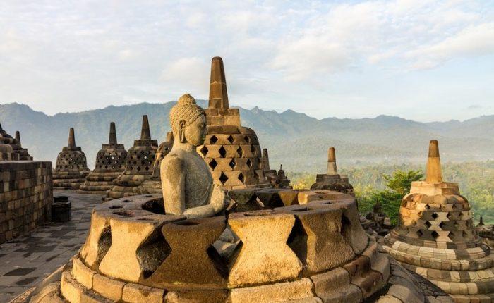 Tempio di Borobudur Giava Indonesia